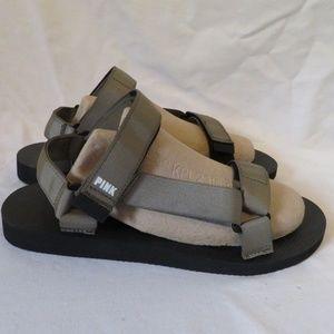 VS Pink Sandals Fisherman Sport Dorm Shoes 9-10 LG